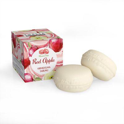 Kırmızı Elma Macaron Sabunu - 100 gr