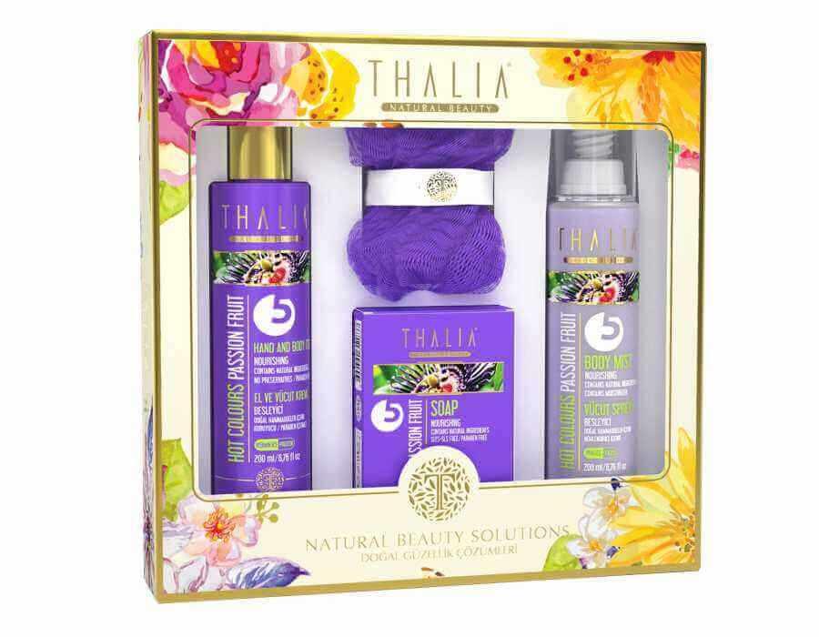 Thalia Hot Colours (Çarkıfelek Meyvesi) Passion Fruit Bakım Seti 3lü - LİF HEDİYELİ