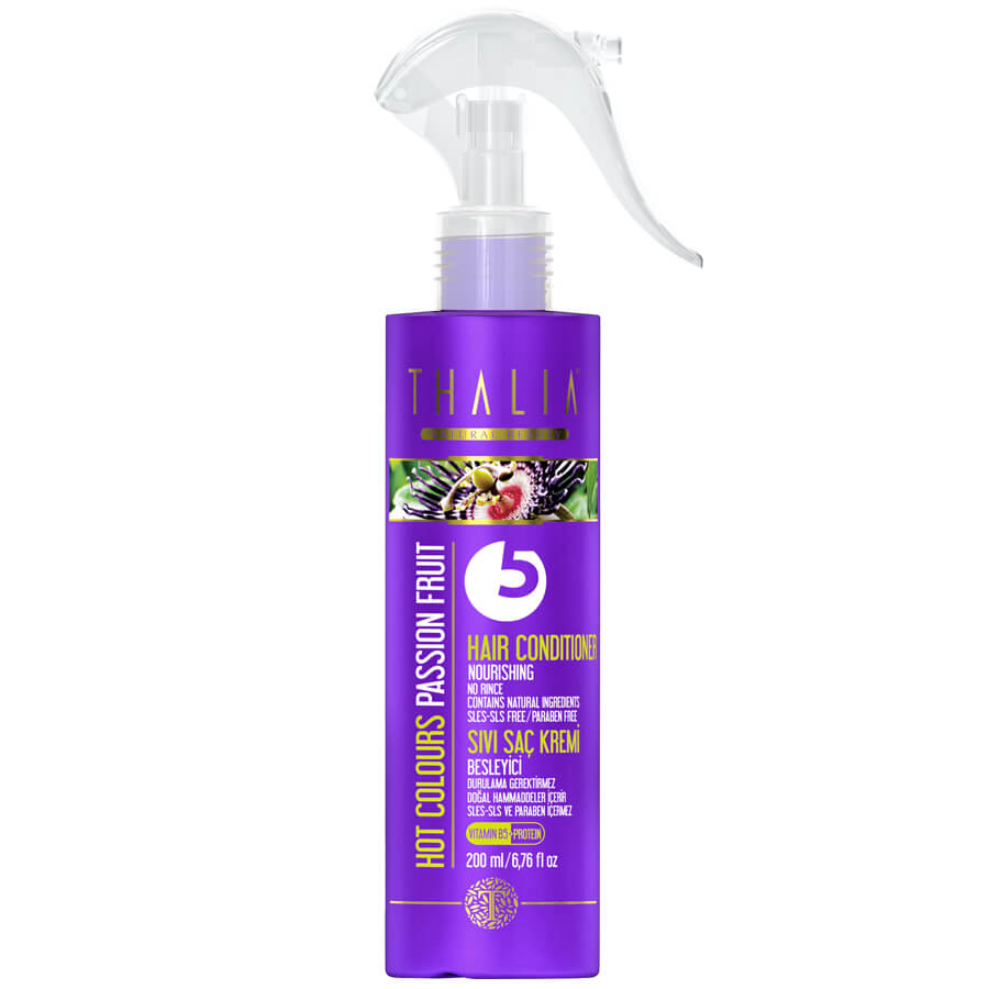 Thalia Hot Colours (Çarkıfelek Meyvesi) Passion Fruit Sıvı Saç Kremi 200 ml / Sles- Sls ve Paraben İçermez
