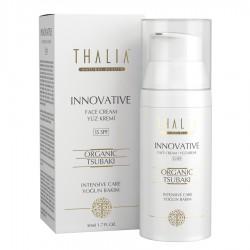 Thalia - Thalia Innovative Organik Tsubaki Yağlı Yüz Bakım Kremi 15 SPF - 50 mL Yaşlanma Karşıtı