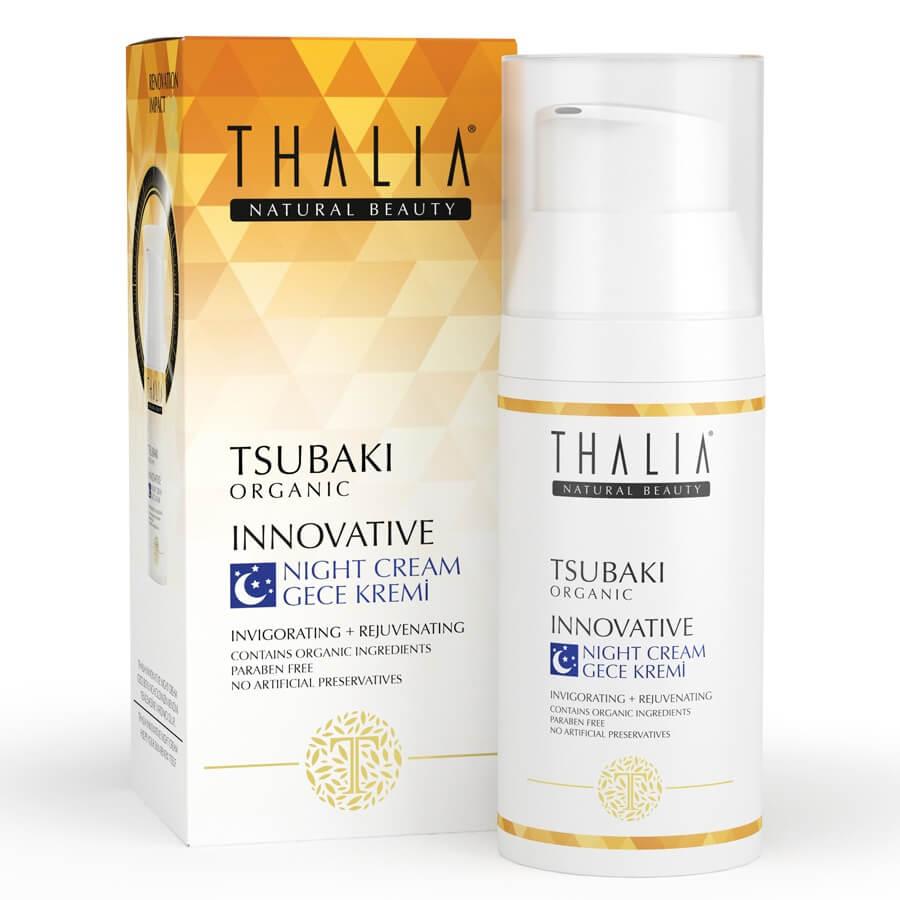 Thalia Organik Innovative Tsubaki Yağlı Gece Yüz Bakım Kremi